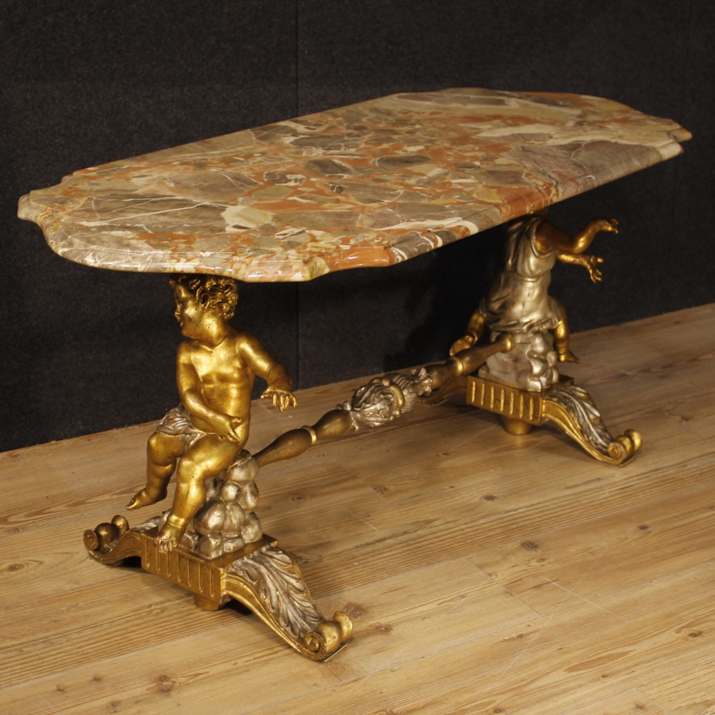 Sculptural Coffee Tables Italian Coffee Table With Marble Top And Little Angels