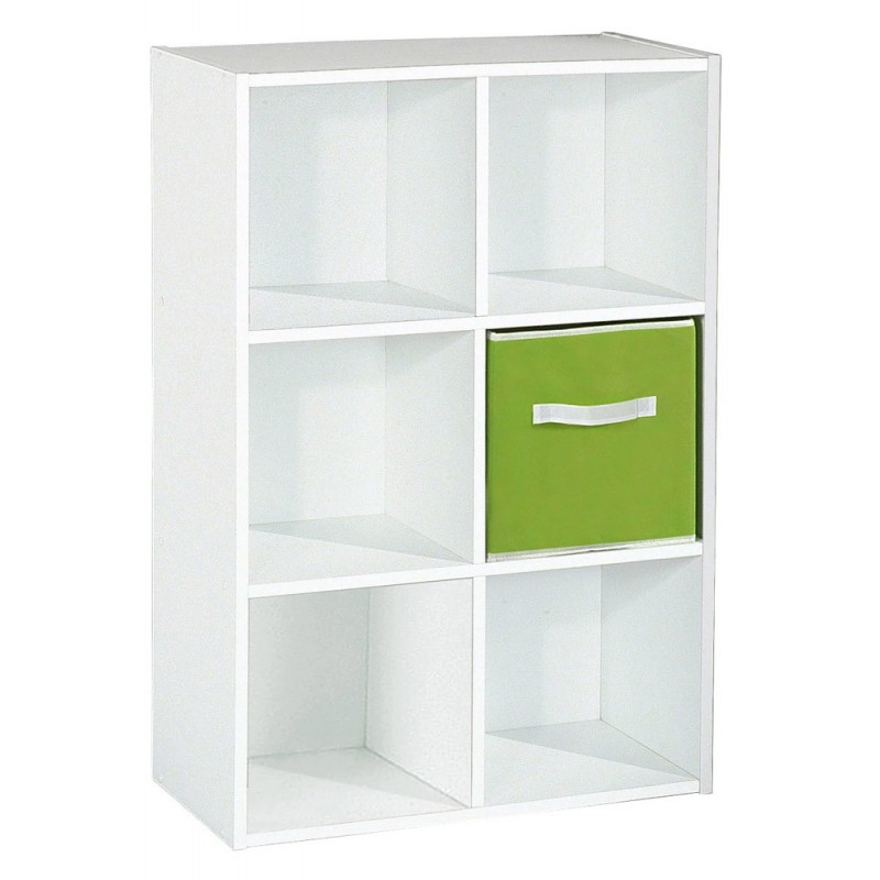 "Magasin Meuble Design Cannes Meuble De Rangement 6 Cases ""malt"" 91cm Blanc"