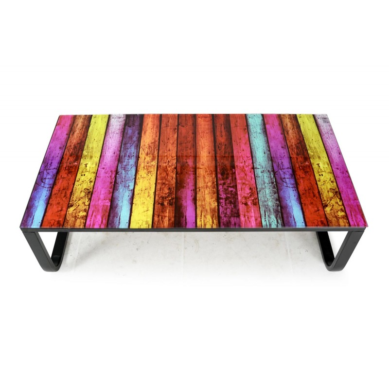 "Magasin Meuble Design Cannes Table Basse ""shadoss"" 105cm Multicolore"