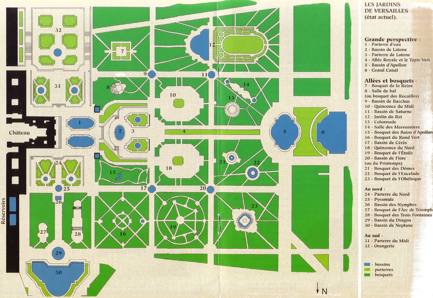 Versaille Jardin Map Of The Palace Of Versailles Map Of Versailles Gardens