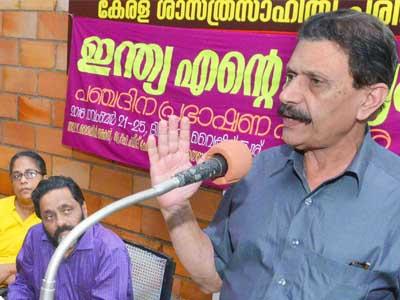 Sasthra Sahithya Parishath Panjadhina Prabahsahanam  Indian Mathanirapeshatha enna vishayathil   Prof.. Hameed chennamangalam prabashanam nadathunnu