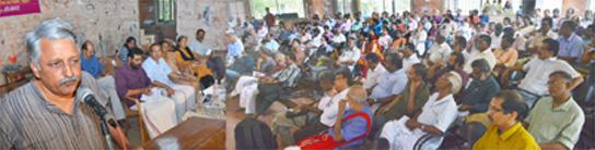 Kerala Sasthra Sahithya Parishath sangadipicha Jaathi sagarshangalude India Seminaril pankeduthukondu Dr. K N Ganesh samsarikunnu
