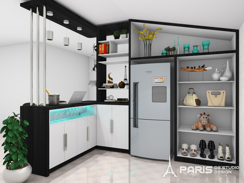 Kitchen set and mini bar paris de 39studio design