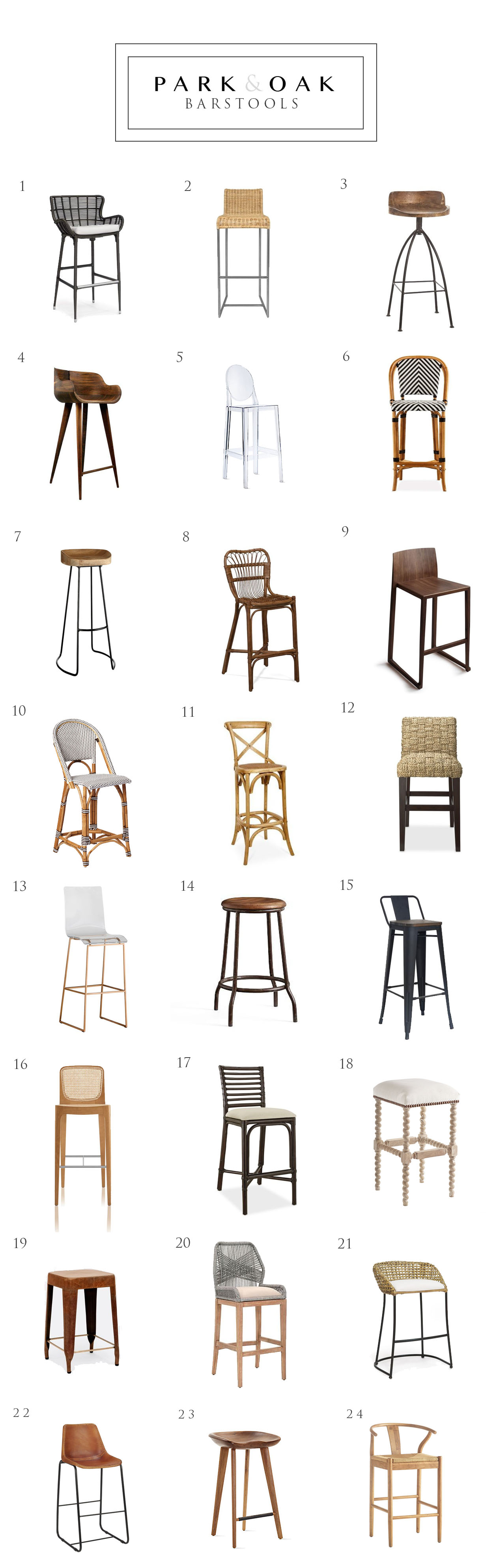 28 Barstools Barstools Park And Oak Interior Design