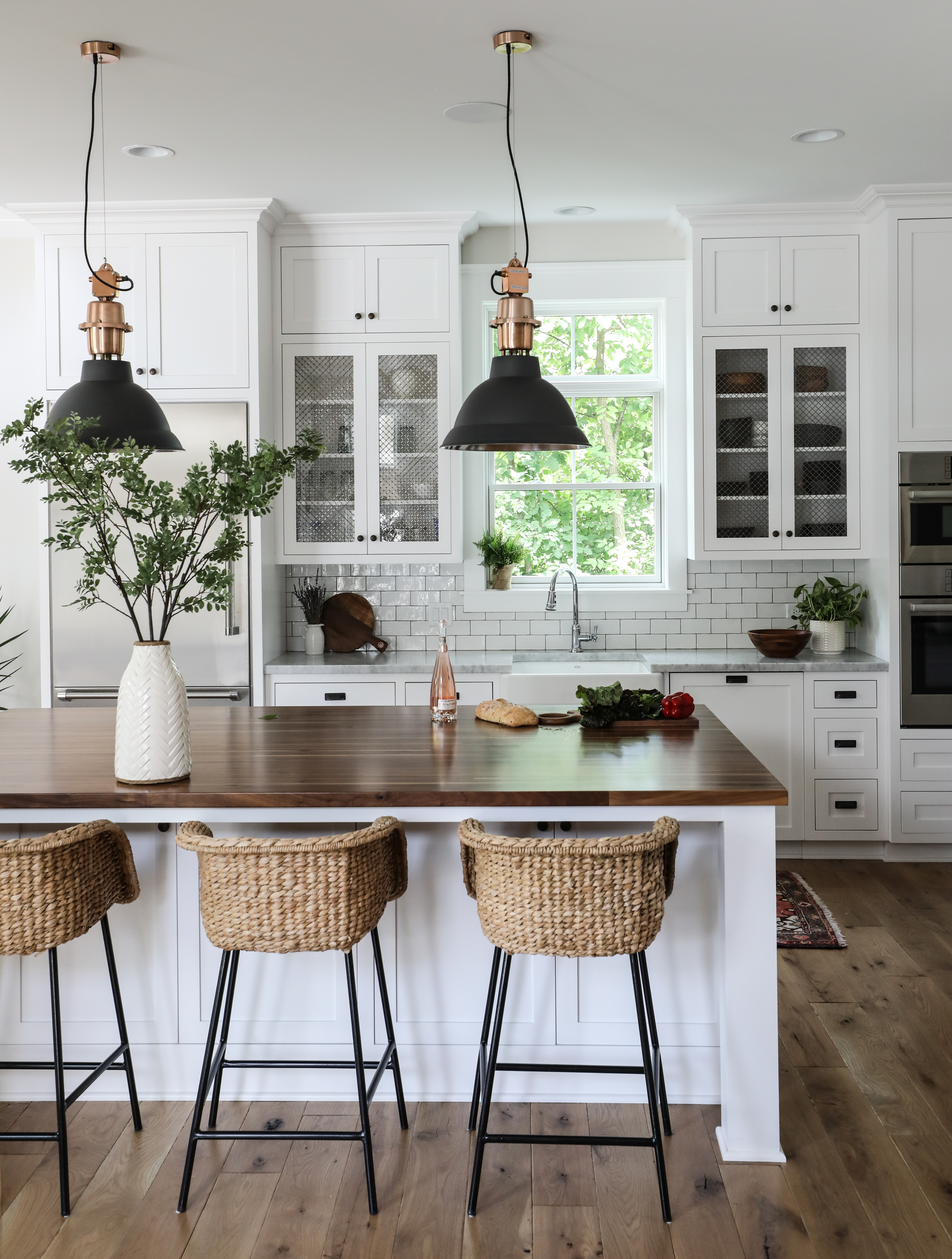 Kitchen Counter And Stools Elmhurst Farmhouse Kitchen Reveal Park And Oak Interior Design