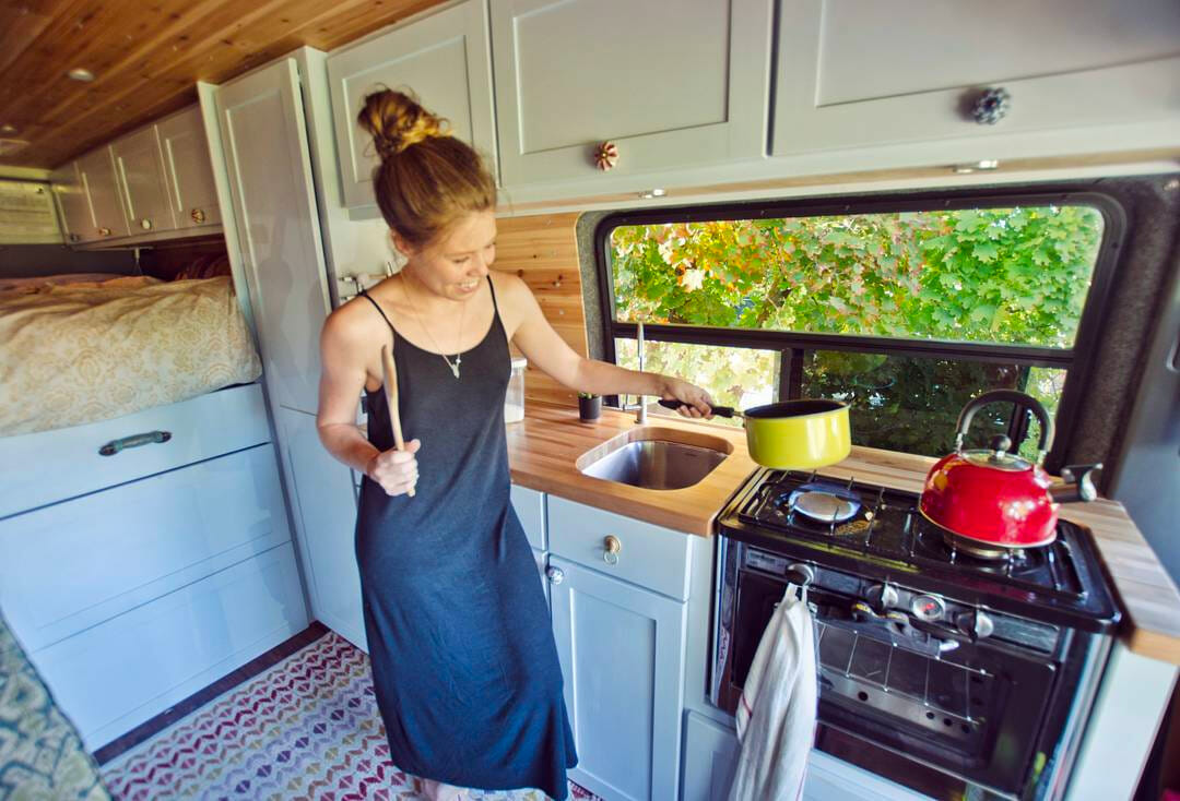 Flat Pack Outdoor Kitchens Creative Vanlife Kitchen Setups Parked In Paradise