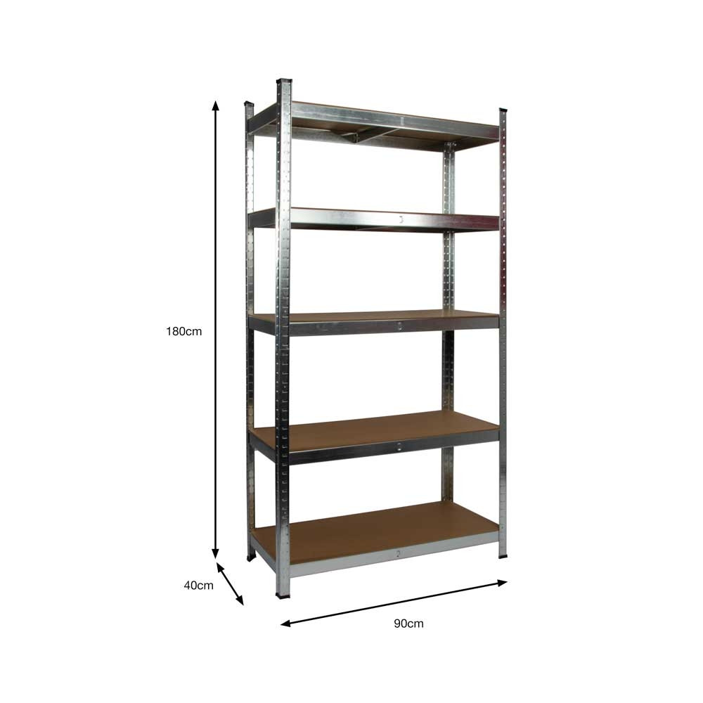 Garage Shelving Units Galvanised Garage Shelving Unit 175kg Boltless