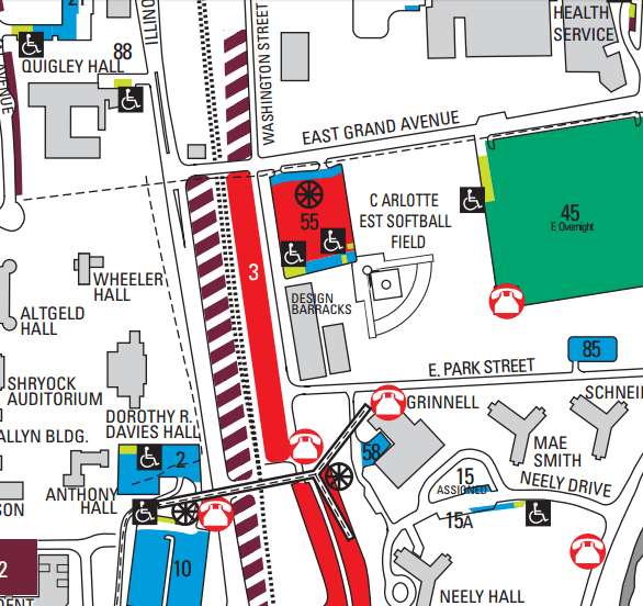 siu campus map