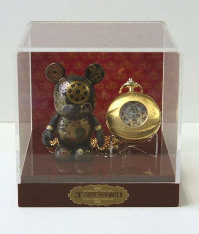 pocket watch vinylmation mickey mouse gears steampunk collectible walt disney world wdw disneyland