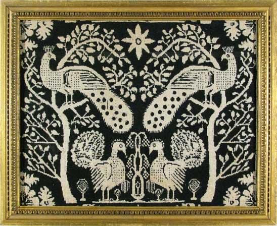 Fragment of Jacquard Weaving c.1840