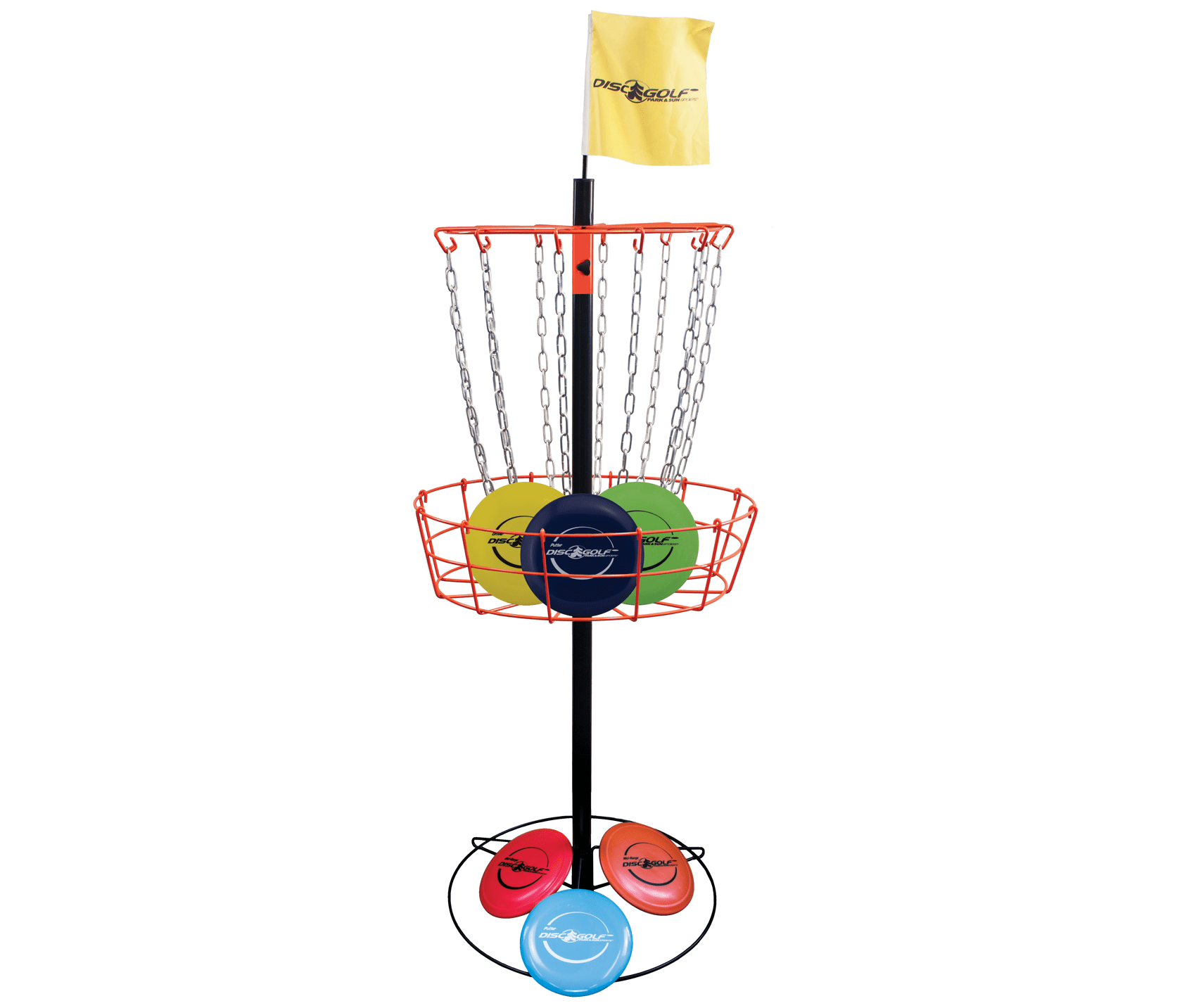 Basketball Ring Target Best Portable Disc Golf Target Steel Upright Zinc Chain