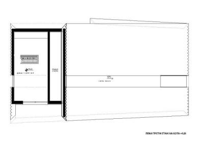 План деревянного современного дома с гаражом 3