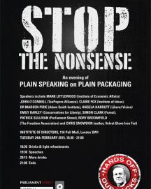 Join Us: PLAIN SPEAKING on PLAIN PACKAGING