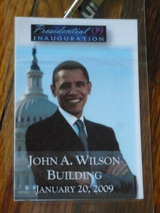 Access granted for a private viewing of the inauguration