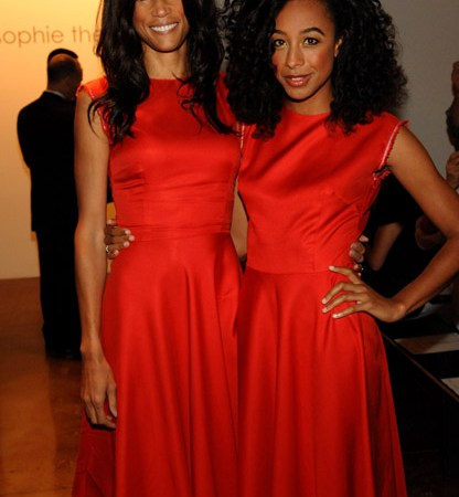 Veronica Webb and Corinne Bailey Rae attend the Sophie Theallet Spring 2012