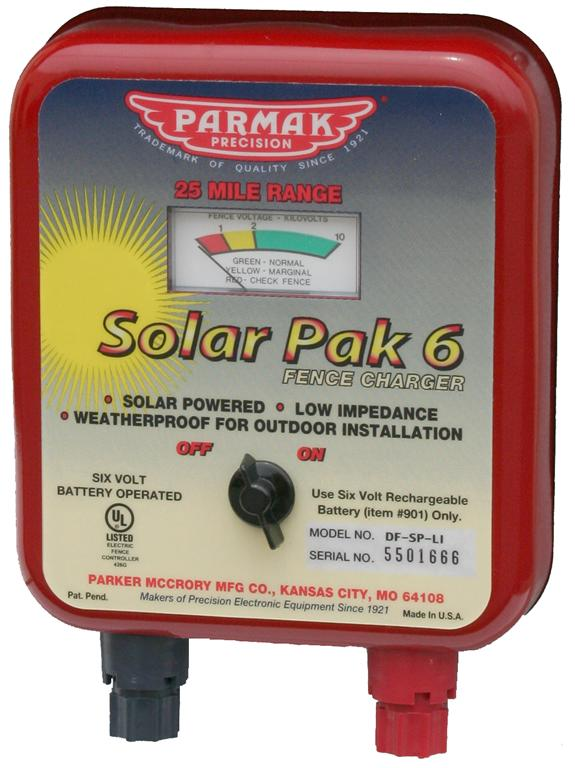 6 volt Solar Charging Unit Only - ParmakUSA