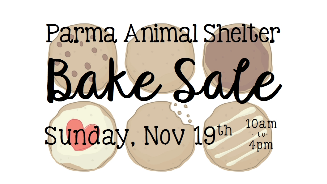 november 17 bake sale flyer header - Parma Animal Shelter