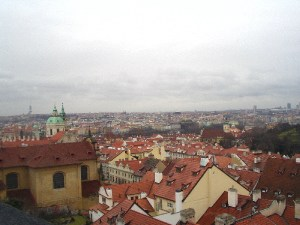 view of skyline near Prague Castle