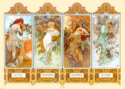 Four Seasons by Mucha