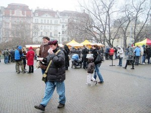 winter pork festival, Prague