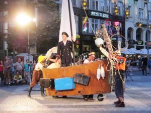 street theatre in Wenceslas Square, Prague