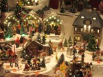 figurines of village scenes decorations