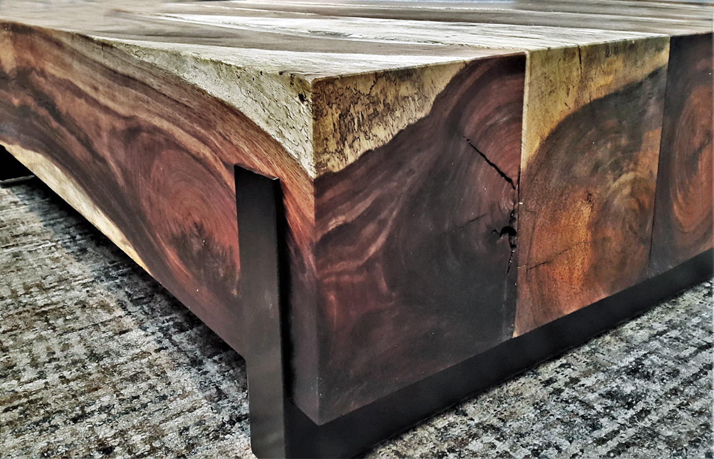 Metal Coffee Table Parota Wood Coffee Tables Custom Made In Mexico