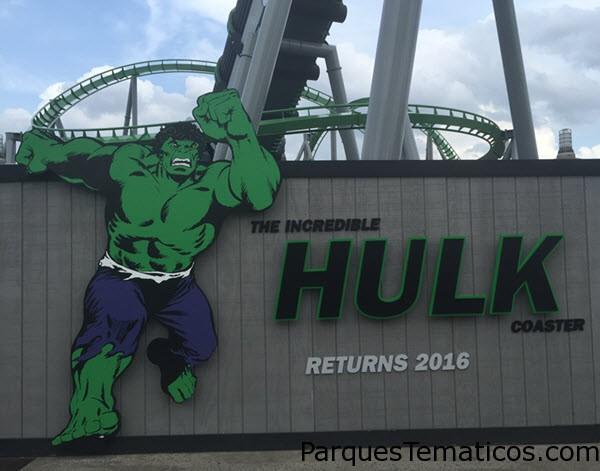 La montaña rusa de Hulk reabre el 2 de Julio 2016