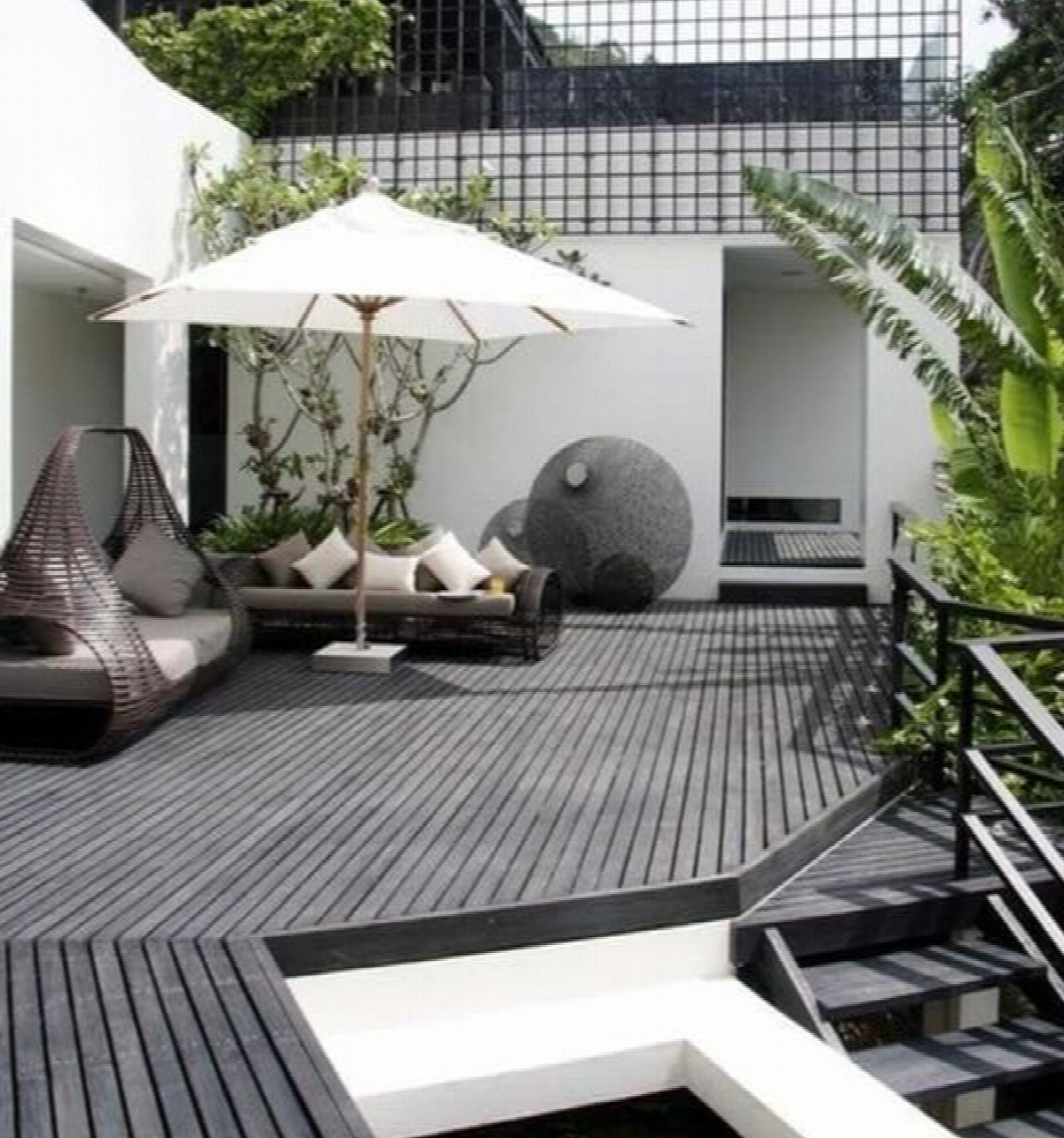 Lame Terrasse Composite Gris Anthracite Lame De Terrasse Composite - Gris Anthracite - Composite