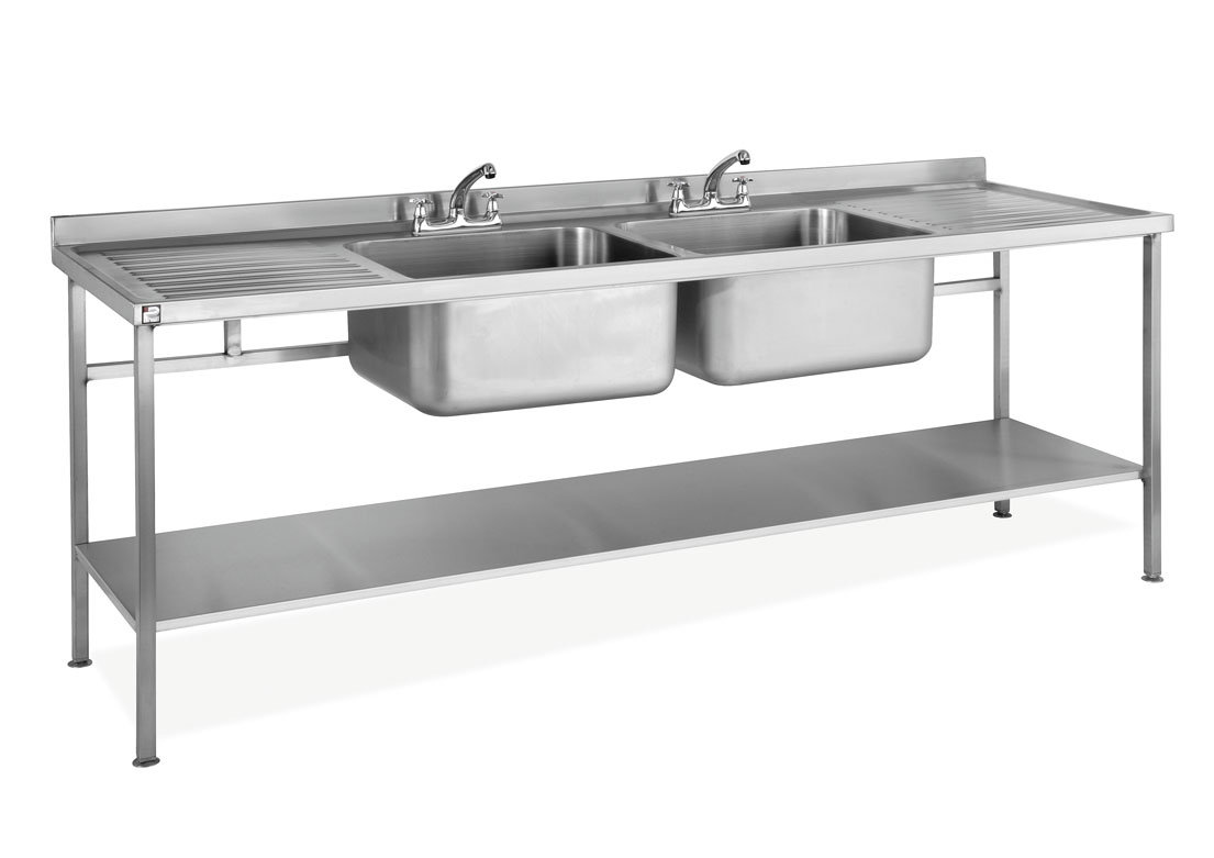 Stainless Steel Double Sink Stainless Steel Assembled Sink Double Bowl Double Drainer