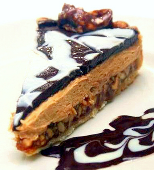 Double Chocolate, Salted Peanut Caramel, Peanut Butter Tart