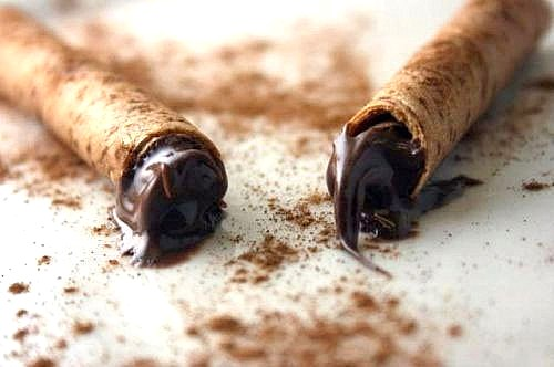 Nutella - Cinnamon Sticks - Rolled Cinnamon Cookies filled with Nutella