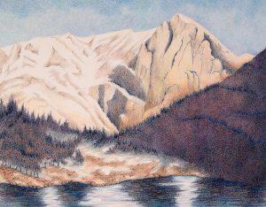 Mt. Alice colored pencil 2016 catalog image