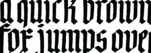 a quick brown fox snippet sample of Blackletter