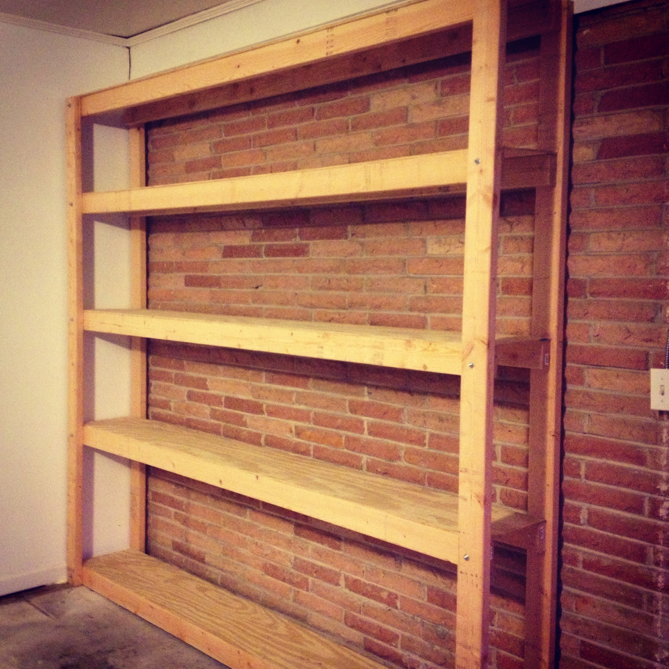 Build Garage Wall Shelves How To Build Shelves For Your Garage Parties For Pennies