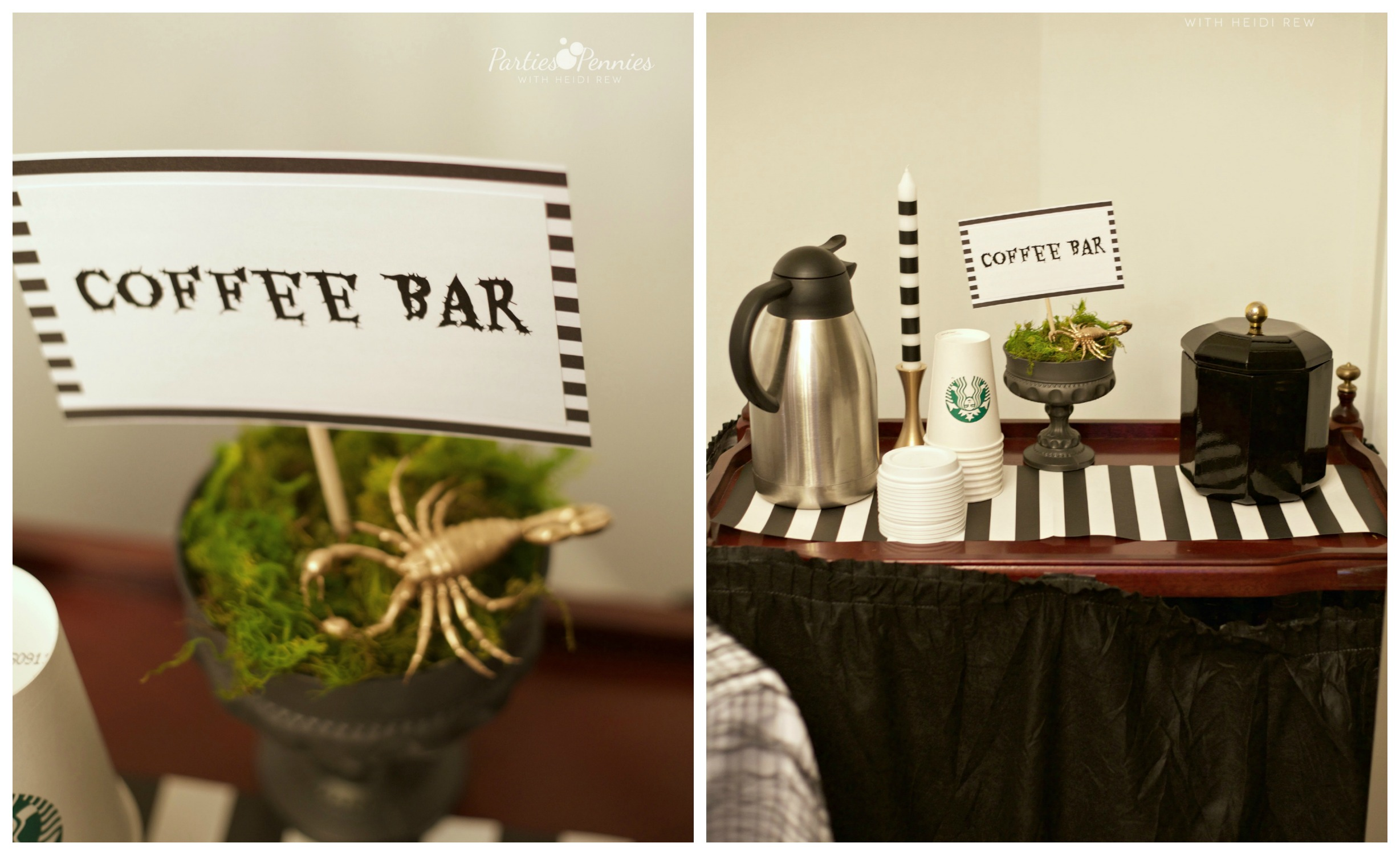 Coffee Bar Ideas For Party Beetlejuice Halloween Party Parties For Pennies