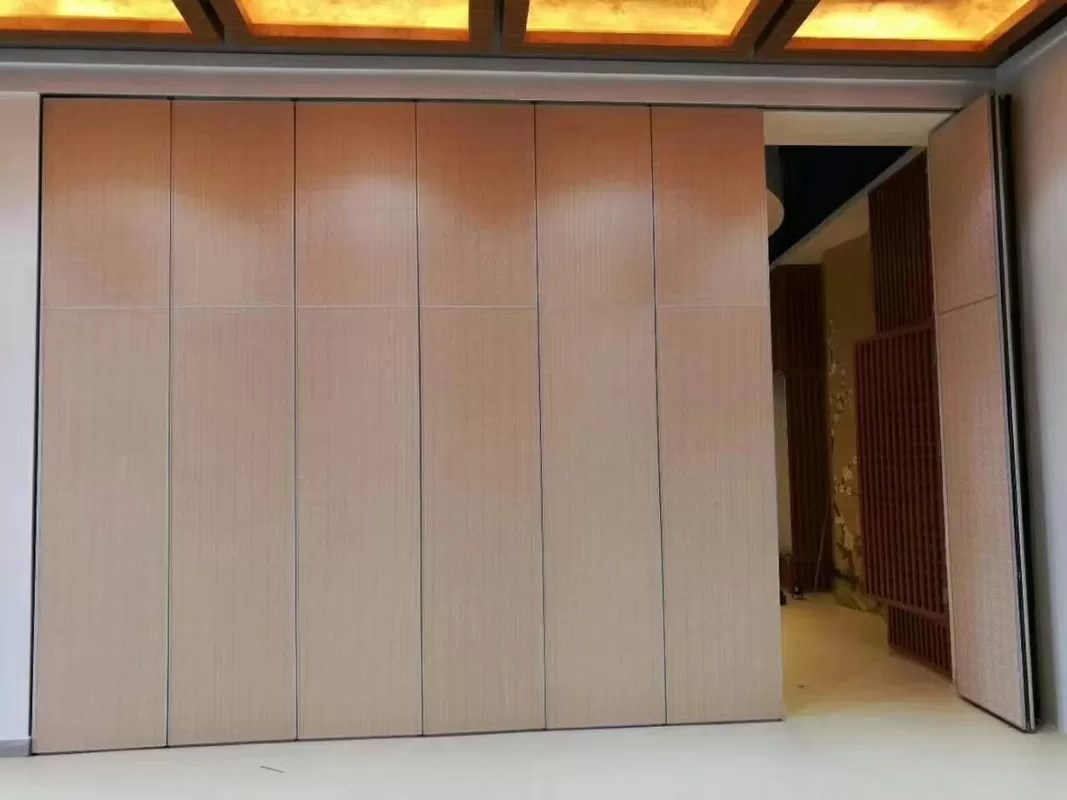 Movable Wooden Partition Interior Wood Melamine Surface Movable Folding Partition