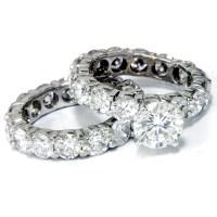 9 1/2ct Diamond Eternity Engagement Ring Wedding Set 14k ...
