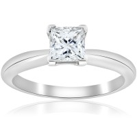Platinum D VS1 1ct GIA Certifed Princess Cut Solitaire