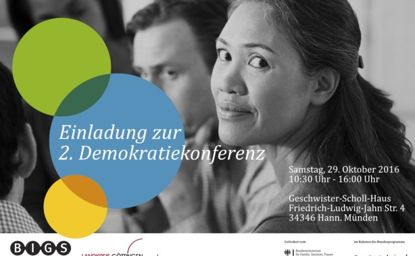Einladung zur zweiten Demokratiekonferenz