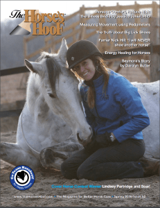On the cover of Hoofbeats Magazine