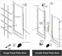 Parts & Accessories - Andersen 200 Series Hinged Patio Doors