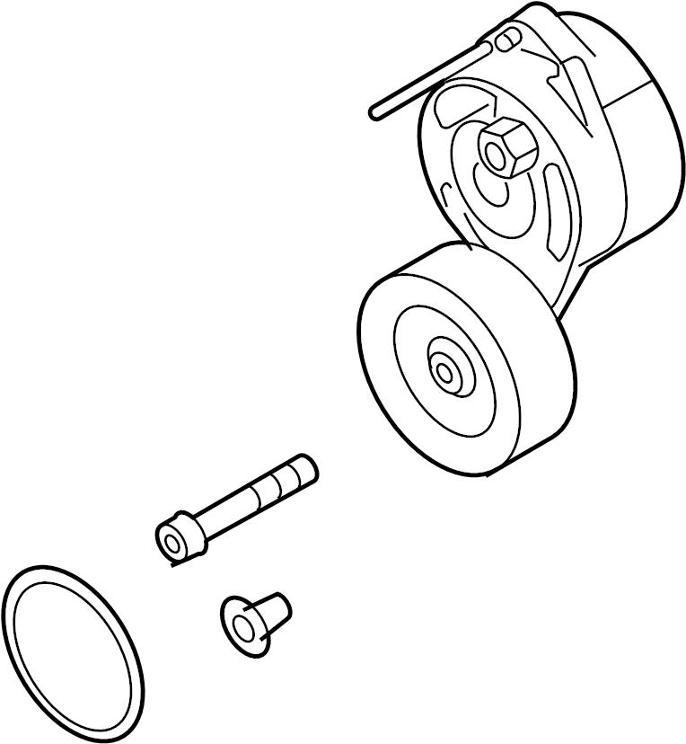 2005 audi a6 3 2 belt tensioner