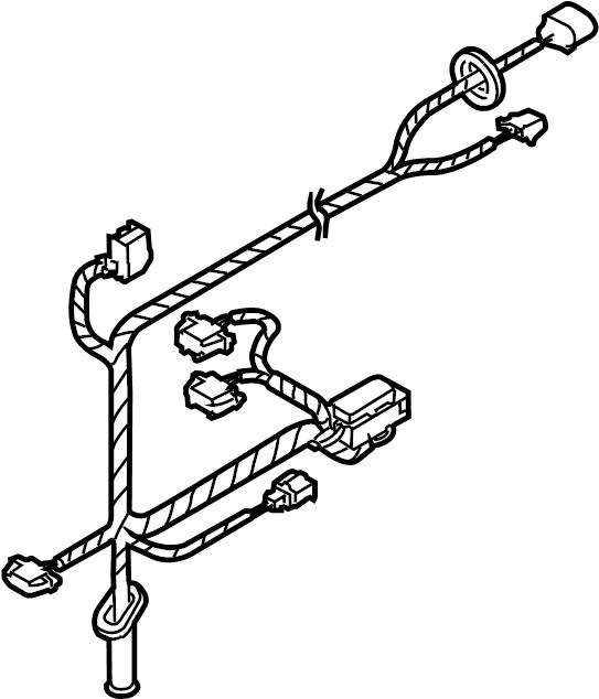vw beetle door wiring harness