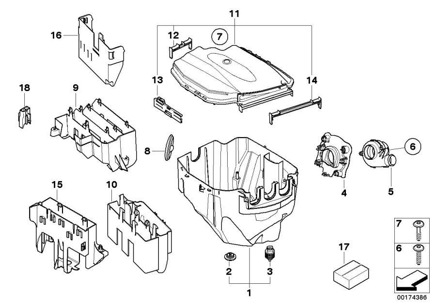 2004 bmw 645 fuse box