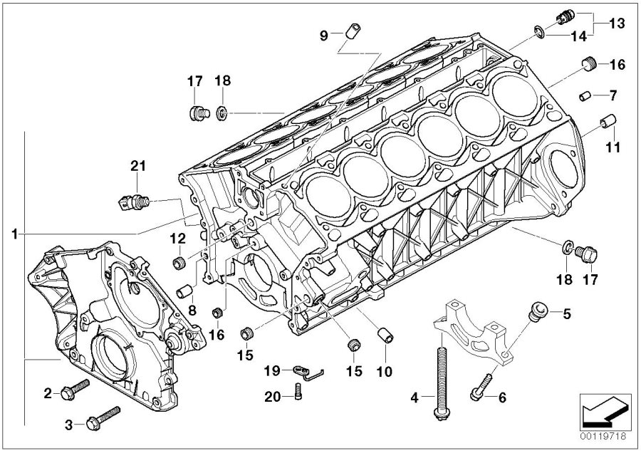 2003 bmw 745li engine parts diagram
