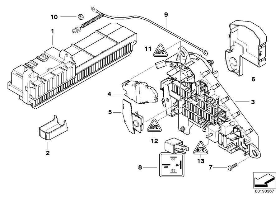 2006 bmw 550i fuse box diagram