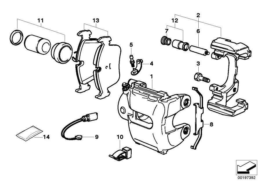 caliper of 2000 tacoma parts diagram