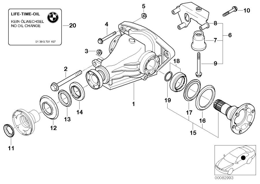 540i rear suspension diagram