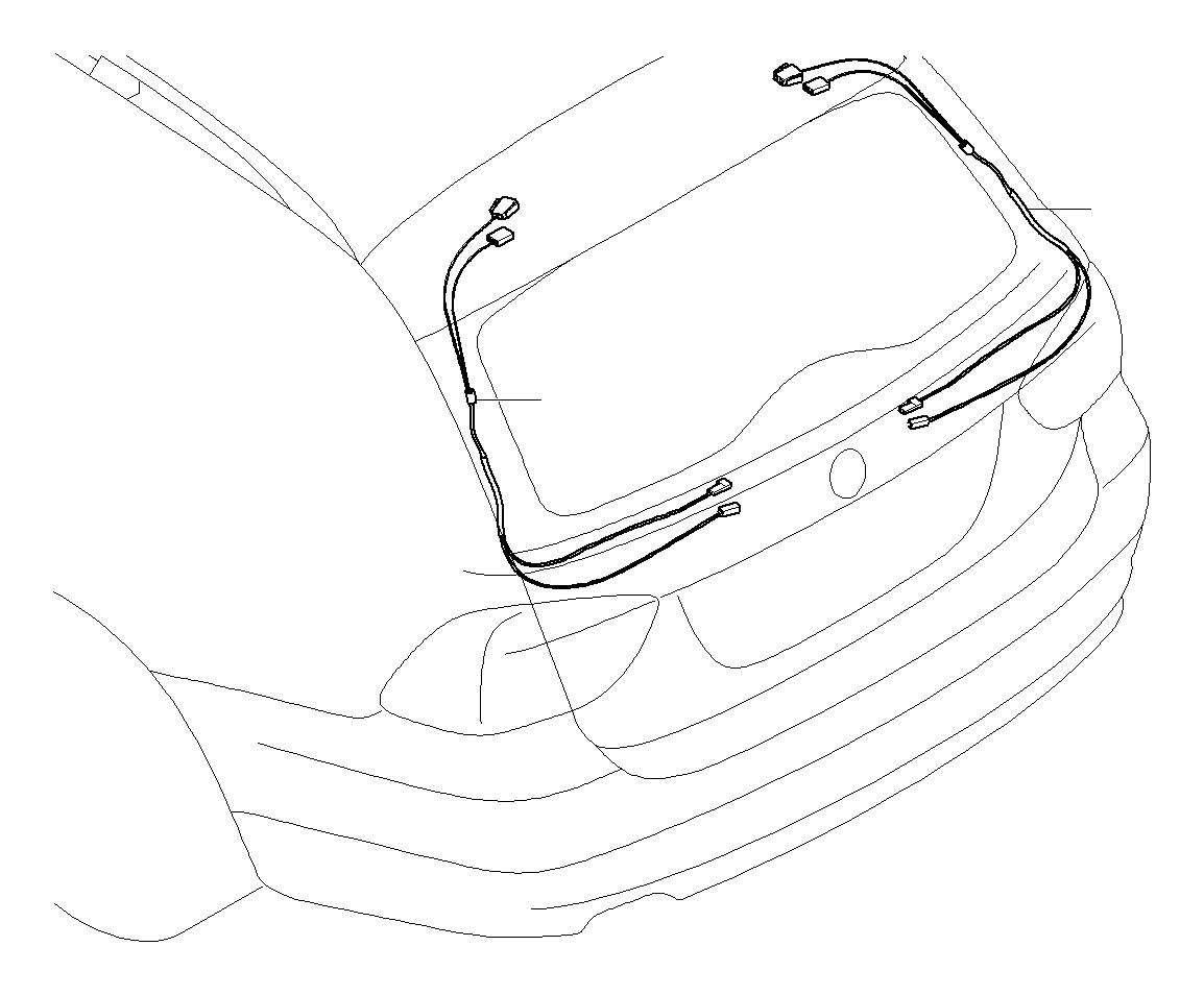 e61 rear wiring harness